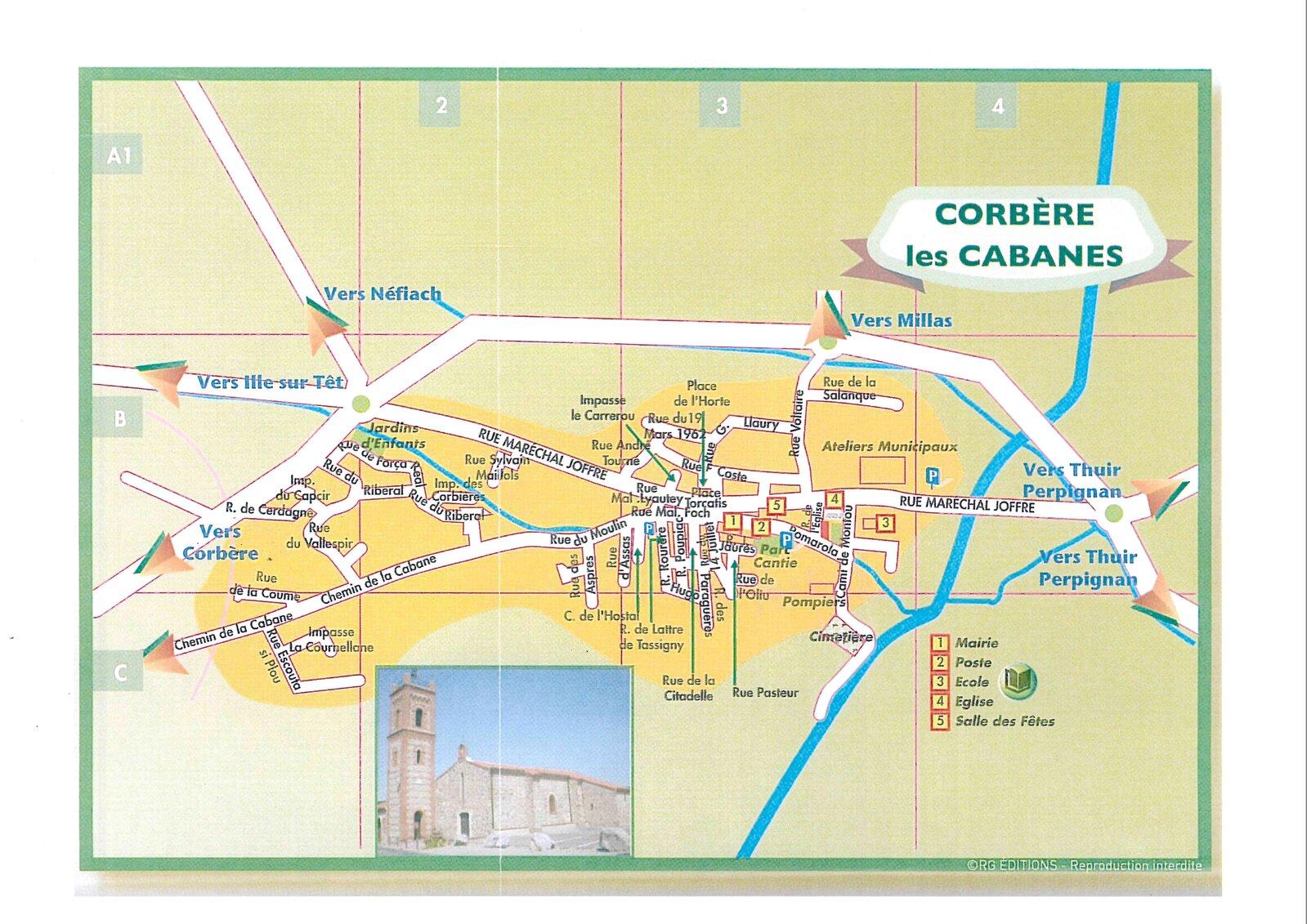 Pr sentation du village de corb re les cabanes for Banes planning